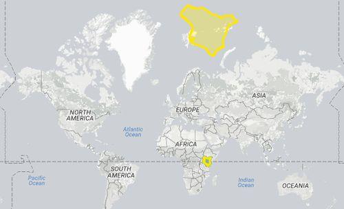 Jika Kenya ditaruh dekat Kutub Utara